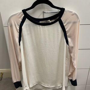 Loft color block blouse.